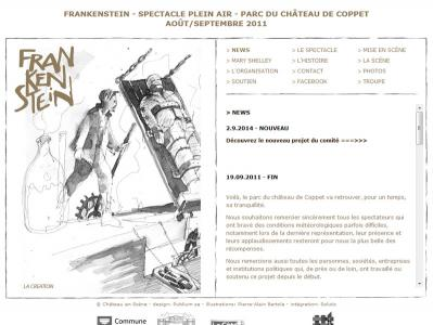 "Réalisation du site internet du spectacle ""Frankenstein Coppet"""