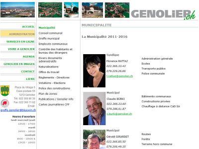 Réalisation du site internet de la commune de Genolier