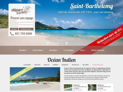 Réalisation du site internet de Depart Voyages SA