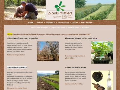 Réalisation du site internet spécialisé dans les plants truffiers de la Pépinière de Genolier