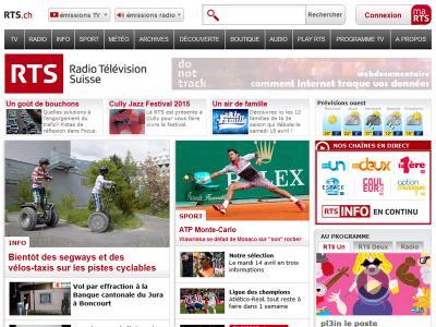 Participation au développement du portail de la Radio Télévision Suisse (RTS)