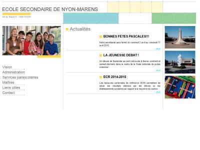 Réalisation du site internet de l'Ecole Secondaire de Nyon Marens