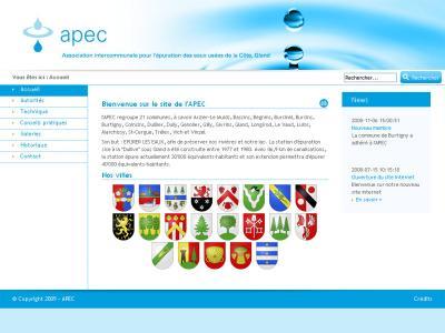Réalisation du site internet de l'Association Intercommunale pour l'épuration des eaux usées de la Côte