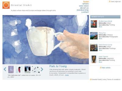 Réalisation du site internet Oriental Visart
