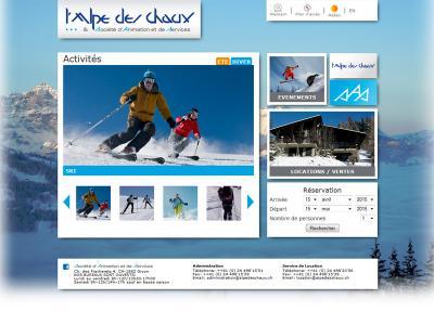 Réalisation du site internet de l'Alpe de Chaux